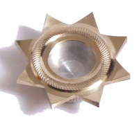 Мощевик звезда с накаткой диаметр 45мм
