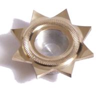 Мощевик звезда с накаткой диаметр 20мм