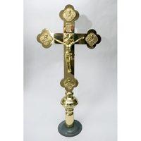 Крест выносной золотистый литье