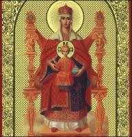 Икона на холсте печатная Богородица на троне