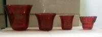 Стаканы в лампаду красные