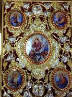 Евангелие напрестольное позолота, эмаль, камни