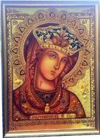 Янтарная икона Андрониковская икона Божией Матери