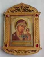 Икона на дереве с ладаном Казанская ПБ
