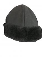Скуфья зимняя с натуральным мехом (овчина)
