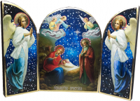 """Икона-Складень """"Рождество Христово"""" тройная 003"""
