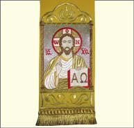 Закладка в Евангелие Спаситель желтая