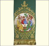 Закладка в Евангелие святая Троица зеленая 001