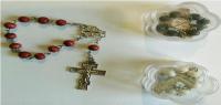"""Четки деревянные """"10"""" шариков, с крестом"""