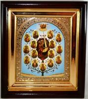Икона Древо Богородицы 24,5*21,5*4 см