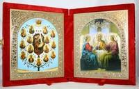 Икона-складень Древо Богородицы и Святая Троица (15*18 см)