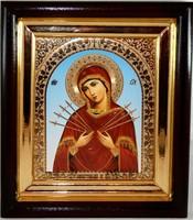 Икона Божья Матерь Семистрельная 24,5*21,5*4 см 5