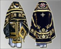 Облачение черное вышивка Иерейское русский крой