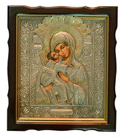 Икона живописная Богородица с Младенцем