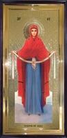 Икона Покров Пресвятой Богородицы ростовая