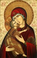 Широкоформатная печатная икона Владимирская Пресвятая Богородица