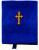 Икона-складень в бархате синяя 005