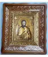 Икона Иоанн Предтеча 4538-Р-12 45х38 см, деревянный фигурный киот, в ризе