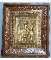 Икона Неупиваемая Чаша 4538-Р-13 45х38 см, деревянный фигурный киот, в ризе