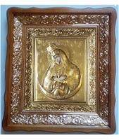 Икона Остробрамская Божья Матерь 4538-Р-14 45х38 см, деревянный фигурный киот, в ризе350