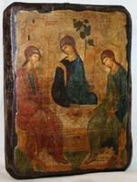 Икона под старину Троица ВЗ