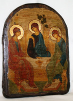 Икона под старину Троица ВЗ арка