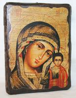 Икона под старину Казанская