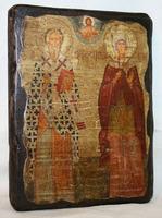 Икона под старину Киприан и Иустиния