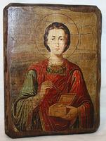 Икона под старину Пантелеимон