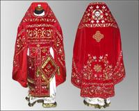 Облачение красное вышивка Иерейское парча габардин
