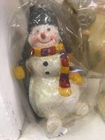 Новогодняя свеча снеговик