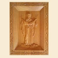 Объемная резная икона Богородица