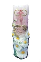 Свечи венчальные с цветами