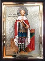 Икона храмовая Святой Благоверный князь Александр Невский