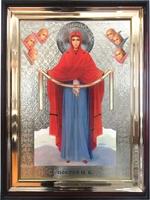 Икона храмовая Покровская Пресвятая Богородица с Херувимами