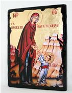 Икона Пресвятая Богородица под старину 002