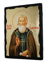 Икона Сергий Радонежский под старину 002
