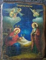 Икона под старину Рождество Христово 002