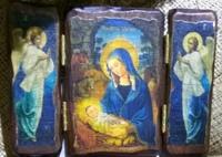 Икона-складень под старину Рождество Христово 001