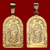 Нательная икона Ангел-Хранитель позолота