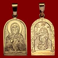 Нательная икона Анна позолота