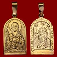Нательная икона Антонина позолота