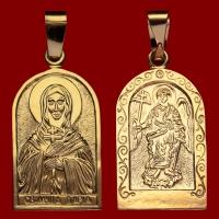 Нательная икона Дарья позолота