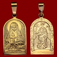 Нательная икона Елизавета позолота