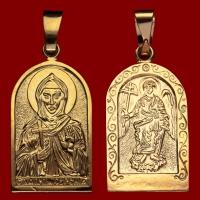 Нательная икона Евгения позолота