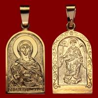 Нательная икона Яна Жанна позолота