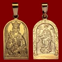 Нательная икона Ирина позолота