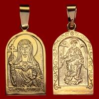 Нательная икона Клавдия позолота