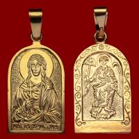 Нательная икона Кристина позолота