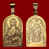 Нательная икона Маргарита позолота